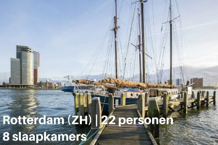 Groepsaccommodatie Boot Catherina, Zuid-Holland, Rotterdam, 22 personen, 8 slaapkamers