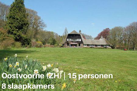 Groepsaccommodatie Landhuis Water en Duinen, Zuid-Holland, Oostvoorne, 15 personen, 8 slaapkamers
