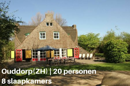 Groepsaccommodatie Vakantiehuis Het Houten Huis, Zuid-Holland, Ouddorp, 20 personen, 8 slaapkamers