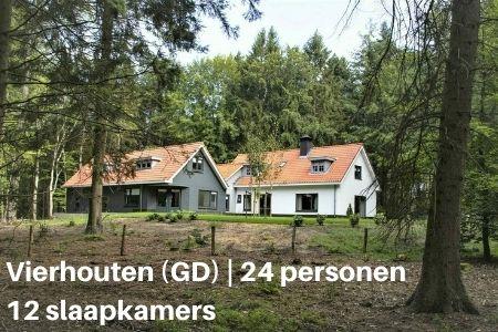 Groepshotel Gelderland, Vierhouten, voor 24 personen met 12 slaapkamers