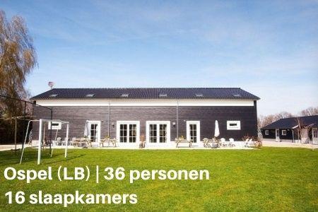 Groepshotel Limburg, Ospel, 36 personen, 18 slaapkamers