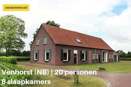 Familiehuis Brabant, 20 personen, 8 slaapkamers