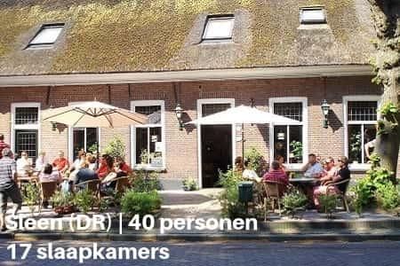 Kampeerboerderij in Drenthe, 40 personen, 17 slaapkamers
