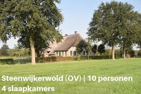 Kampeerboerderij Overijssel, 10 personen, 4 slaapkamers