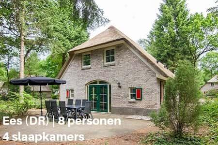 Kampeerboerderij Drenthe, 8 personen, 4 slaapkamers