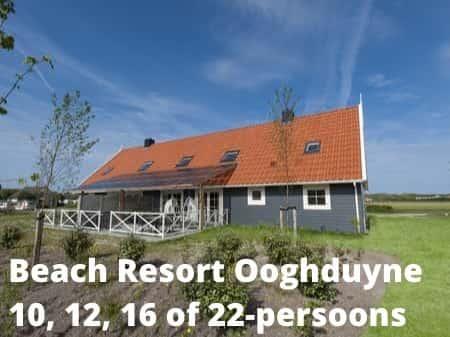 Landal Beach Resort Ooghduyne, grote accommodaties voor 10, 12, 16 of 22 personen