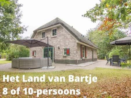 Landal Het Land van Bartje, grote accommodaties voor 8 of 10 personen