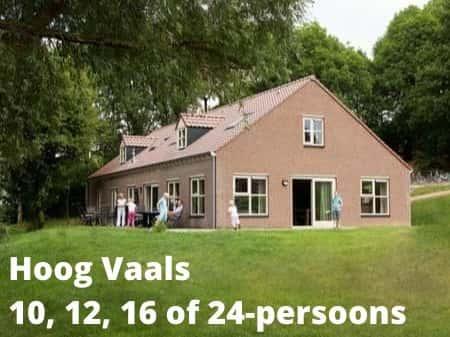 Landal Hoog Vaals, grote accommodaties voor 10, 12, 16 of 24 personen