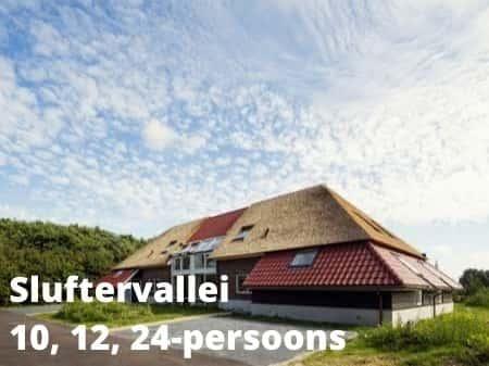 Landal Sluftervallei, grote accommodaties voor 10, 12 of 24 personen