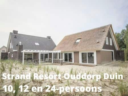Landal Strand Resort Ouddorp Duin, grote accommodaties voor 10, 12 en 24-personen