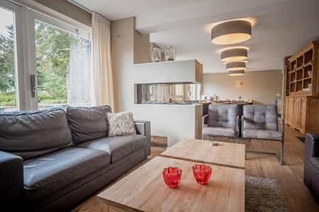 Luxe woonkamer voor groepen