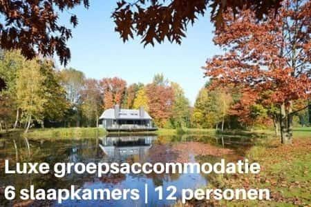 Luxe groepsaccommodatie voor 12 personen in Overijssel (6 slaapkamers)