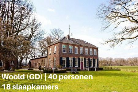 Groepsaccommodatie met de hond, Woold, Gelderland, 40 personen, 18 slaapkamers