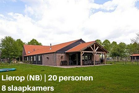 Groepsaccommodatie met hond, Lierop, Brabant, 20 personen, 8 slaapkamers