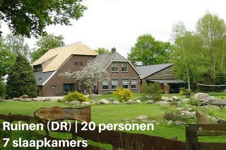 Groepsaccommodatie met hond, Ruinen, Drenthe, 20 personen, 7 slaapkamers