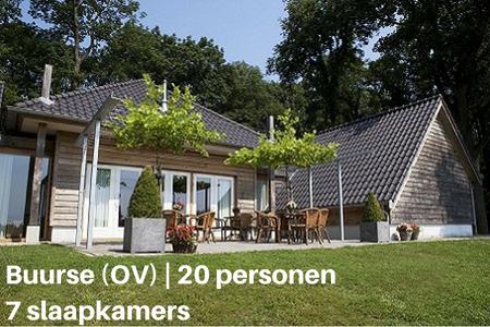 Groot vakantiehuis met hond, Buurse, Overijssel, 20 personen, 7 slaapkamers
