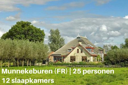vakantiehuis met hond munnekeburen friesland 25 personen 12 slaapkamers