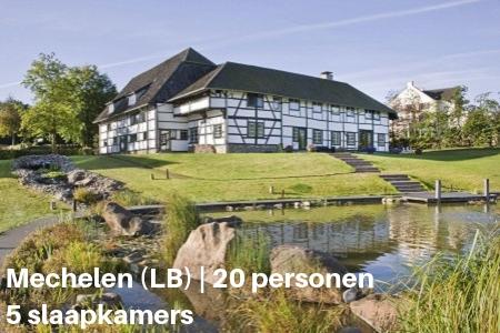 Groepsaccommodatie met binnenzwembad, Mechelen, Limburg, 20 personen, 5 slaapkamers