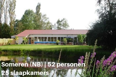Groepsaccommodatie met prive zwembad, Someren, Brabant, 52 personen, 25 slaapkamers