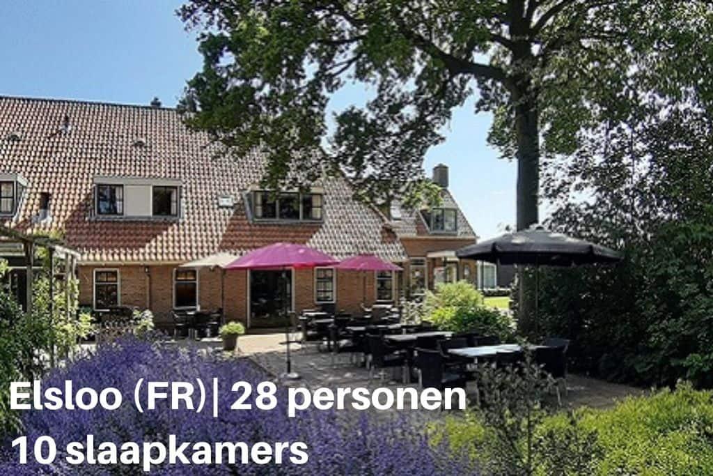Groepsaccommodatie met eigen zwembad in Friesland