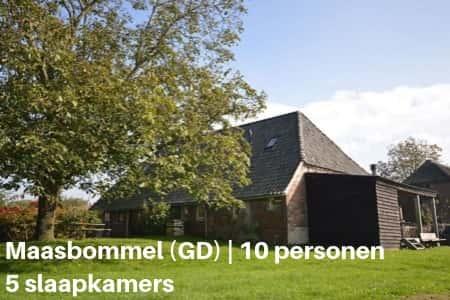 vakantiehuis 10 personen gelderland maasbommel 5 slaapkamers
