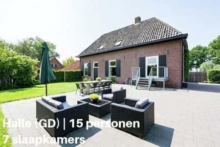 Vakantiehuis voor families van 15 personen, Gelderland